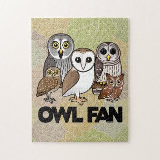 Owl Fan Jigsaw Puzzle