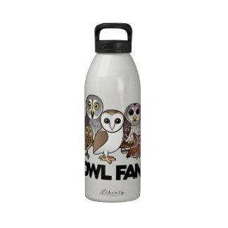 Owl Fan Drinking Bottle