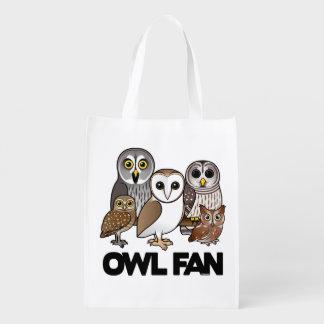 Owl Fan Grocery Bags