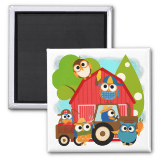 Owl Farmers Square Magnet