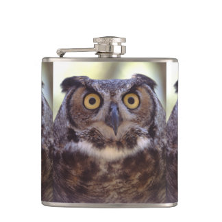 owl hip flasks