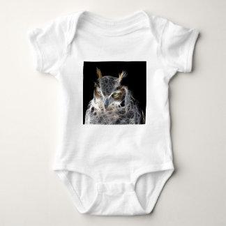 owl fractal design baby bodysuit