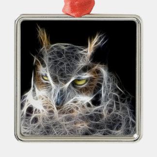 owl fractal design christmas ornament