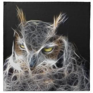 owl fractal design napkin