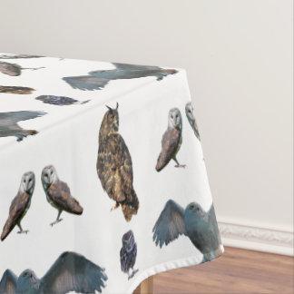 Owl Frenzy Tablecloth (choose colour)