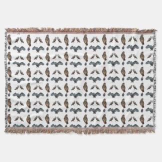 Owl Frenzy Throw Blanket (choose colour)