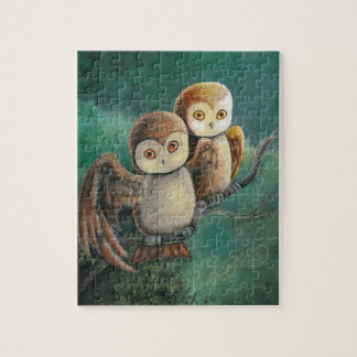 Owl Friends Owl Art Jigsaw Puzzle