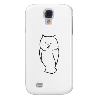 Owl - Fun cute simple totem ink line drawing art Galaxy S4 Case