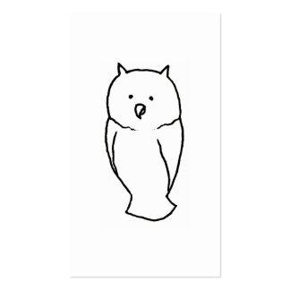 Owl - Fun cute totem line drawing art CUSTOMIZE IT Business Card Templates