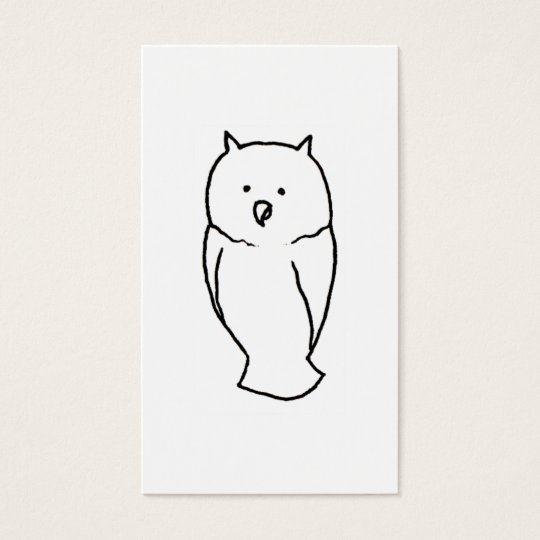 Owl - Fun cute totem line drawing art