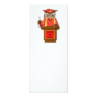 "Owl Graduation Class of 2011 4"" X 9.25"" Invitation Card"