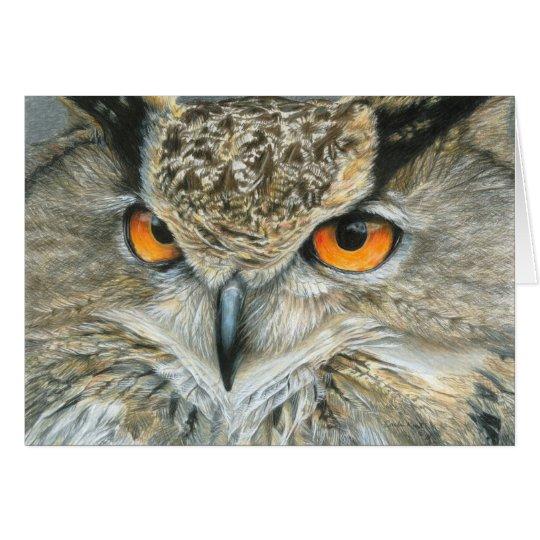 Owl Greeting Card - Blank