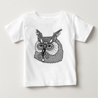 Owl Head Zendoodle Baby T-Shirt