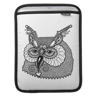 Owl Head Zendoodle iPad Sleeve