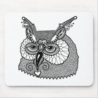 Owl Head Zendoodle Mouse Mat
