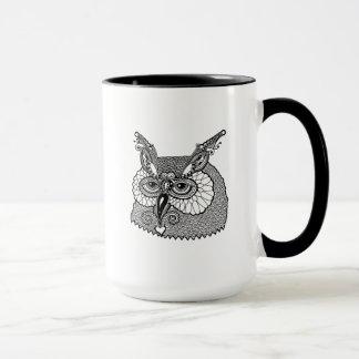 Owl Head Zendoodle Mug