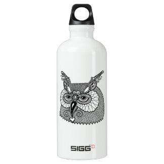 Owl Head Zendoodle Water Bottle