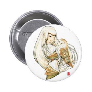"""Owl Heart"" Erica Ward Design Pin"