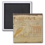 Owl Hieroglyph Detail, Hatshepsut Temple, Egypt Refrigerator Magnet
