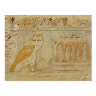 Owl Hieroglyph Detail, Hatshepsut Temple, Egypt Postcards