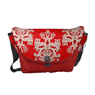 Owl hollow - red-black commuter bags
