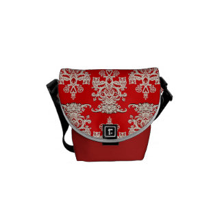 Owl hollow red courier bags