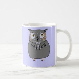 Owl hooting coffee mug