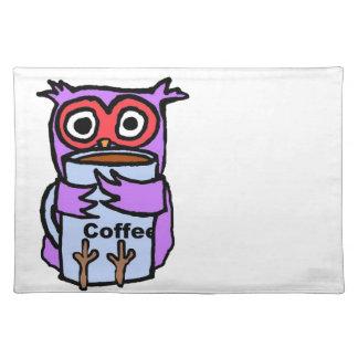 Owl Hugs Coffee Mug Place Mat