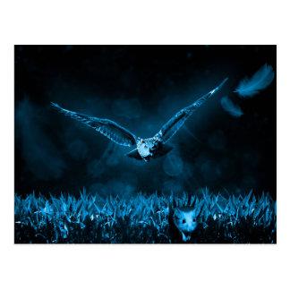 Owl Hunt Fantasy Night Postcard