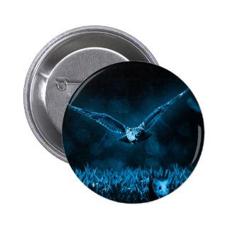 Owl Hunting 6 Cm Round Badge
