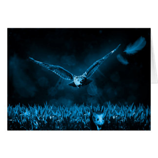 Owl Hunting Card