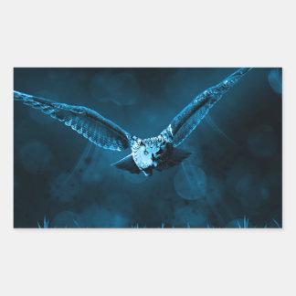 Owl Hunting Rectangular Sticker