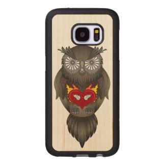 Owl Illustration Wood Samsung Galaxy S7 Case