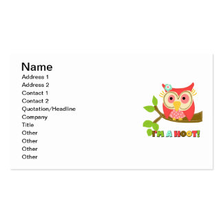 Owl I'm a Hoot Pack Of Standard Business Cards