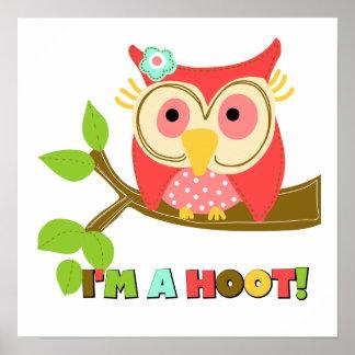 Owl I'm a Hoot Poster