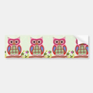 Owl Image Bumper Sticker