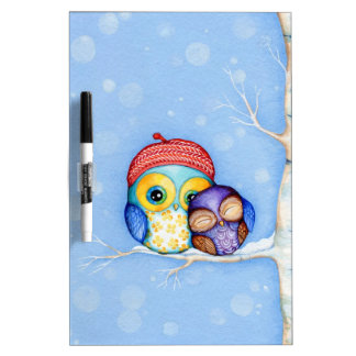 Owl in a Little Red Beret Dry-Erase Whiteboards