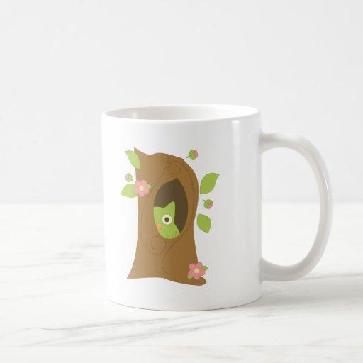 Owl in a Tree Basic White Mug