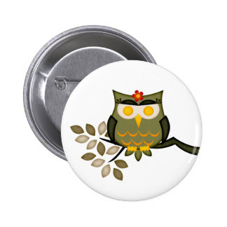 Owl in a tree Button