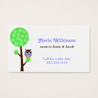 Owl in a Tree Mommy Card