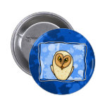 owl in blue buttons