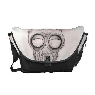 Owl in Cat-Hat -  Rickshaw Messenger Bag