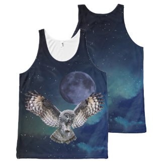 Owl in Flight All-Over Print Tank Top