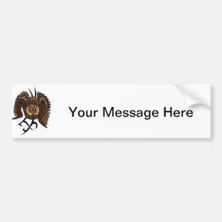 Owl in Flight Bumper Sticker