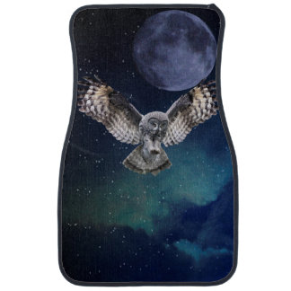 Owl in Flight Car Mat