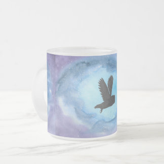 Owl In Flight Frosted Mug