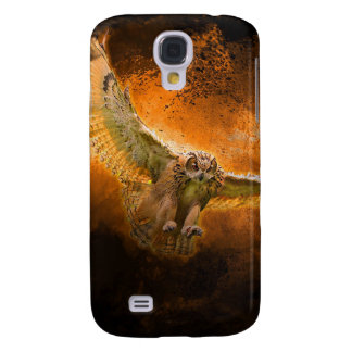 Owl in Flight Galaxy S4 Case