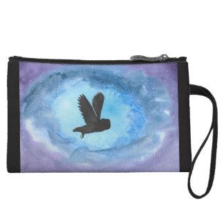 Owl In Flight Mini-Clutch Wristlet