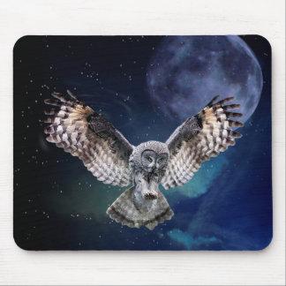 Owl in Flight Mouse Mat