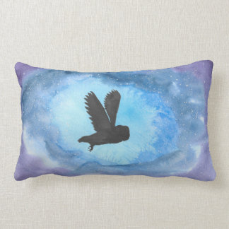 Owl In Flight Polyester Lumbar Pillow